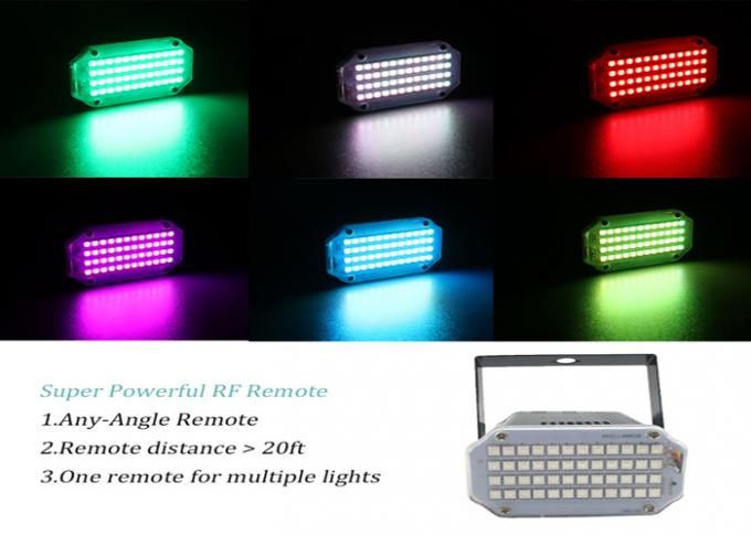 Remote Control Stage Strobe Lights Super Bright 48 RGB Sound Activated Party