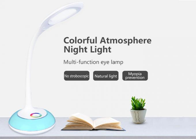 Multi Angle Small Table Reading Lamps , Study Table Lamp Touch Control 280lm