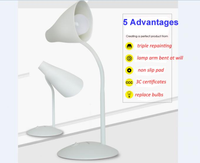 5000K Study Dimmable LED Table Lamp Brightness Night Light AC110-220V Optional Color