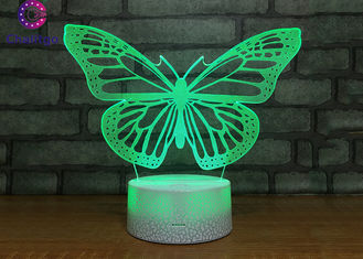 China Battery Operated Bedroom Desk Lamp Butterfly Lights For Sleeping supplier