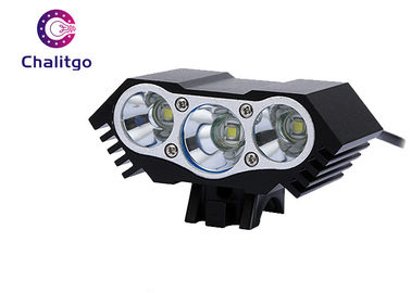 China Aluminum Mountain Bike Front Light 2200 Lumens Weight 130g Acrylic Optical Len factory