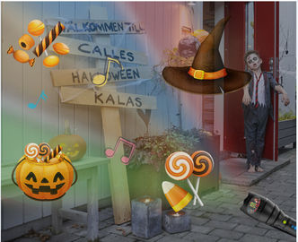 2000mAh Halloween Light Projector , 12 Pattern Music Playing Holiday House Projector
