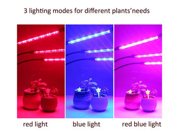 China LED Three - Tube Grow Lights For Indoor Plants , Cycle Timing Full Spectrum Grow Lights factory