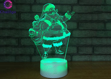 China 7 Color Father Christmas Led Decorative Table Lamps 3 AA Battery / USB Cable Support factory