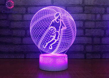 China Basketball Design 3D Night Light Table Lamp USB Charge Lighting Bedroom Use factory