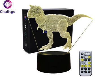 China High End 3d Led Desk Lamp / 4.5-5V 3D Dinosaur Lamp For Kids 7 Colors factory