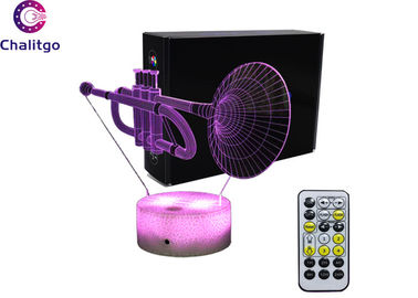 China Trumpet Shape 3D LED Illusion Lamps 7 Colors Change 15 Keys Remote Control factory